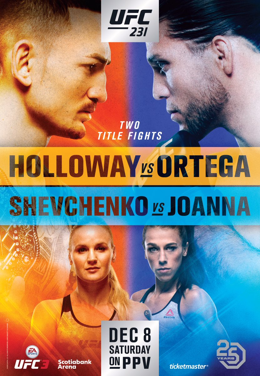 Max Holloway vs. Brian Ortega Official for UFC 231 | Holloway vs Ortega (Pic)